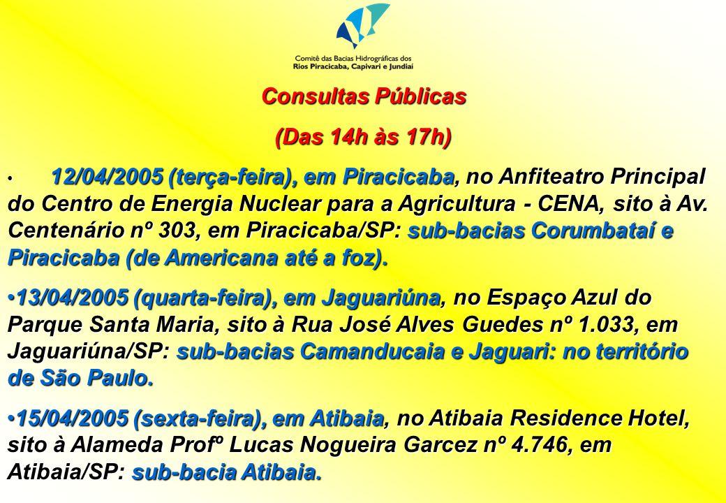 Consultas Públicas (Das 14h às 17h)