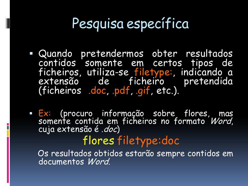 Pesquisa específica flores filetype:doc