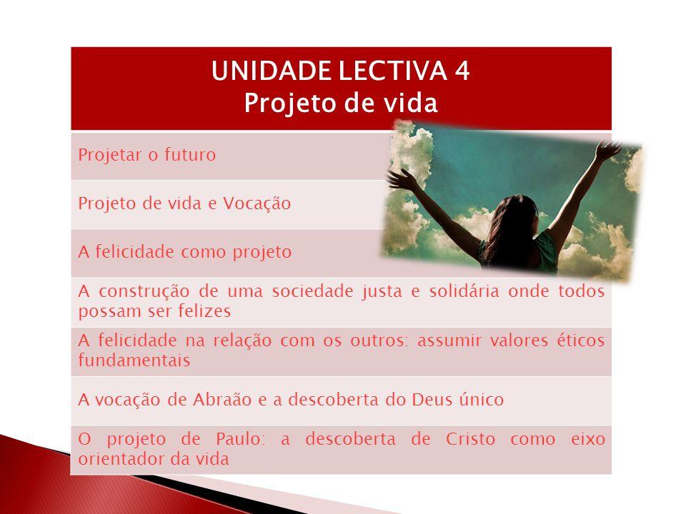 UNIDADE LECTIVA 4 Projeto de vida