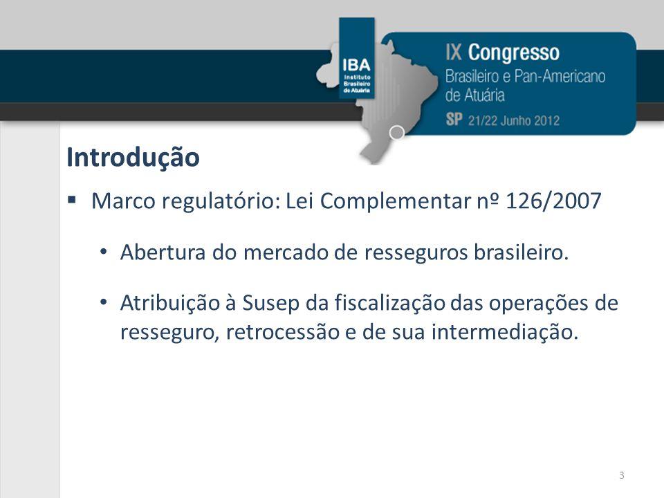 Introdução Marco regulatório: Lei Complementar nº 126/2007