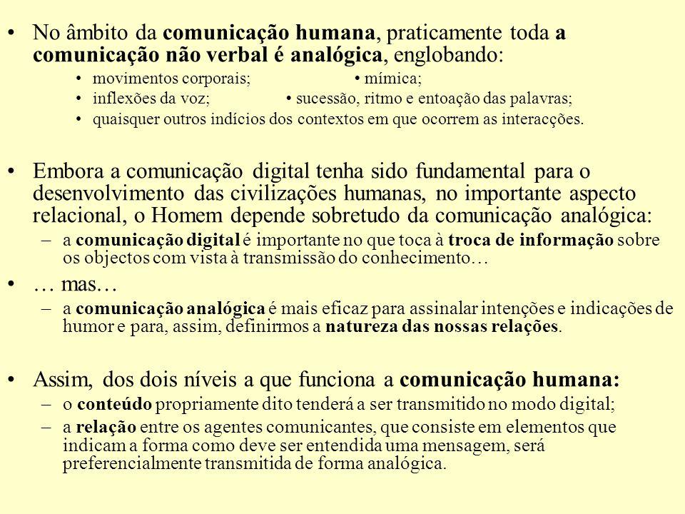 Assim, dos dois níveis a que funciona a comunicação humana: