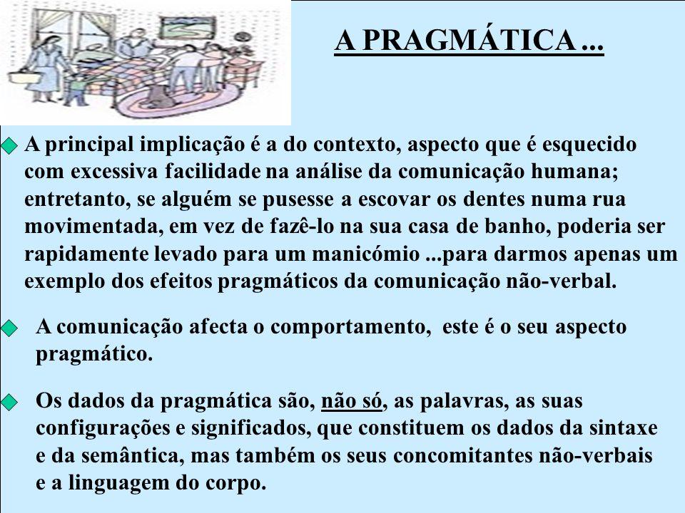 A PRAGMÁTICA ...