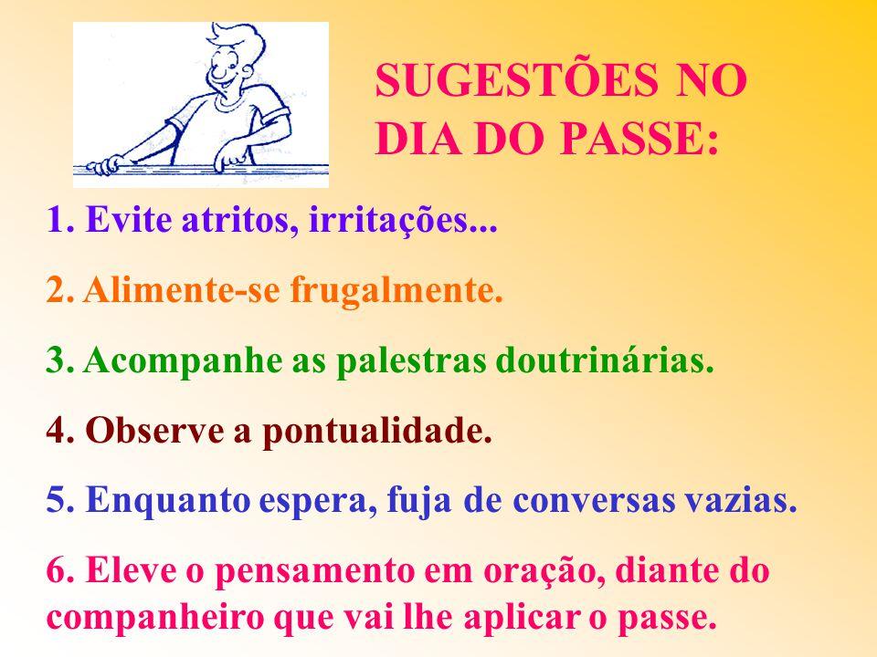 SUGESTÕES NO DIA DO PASSE: