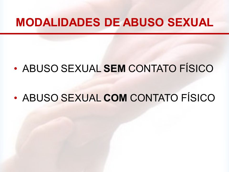 modalidades de abuso sexual