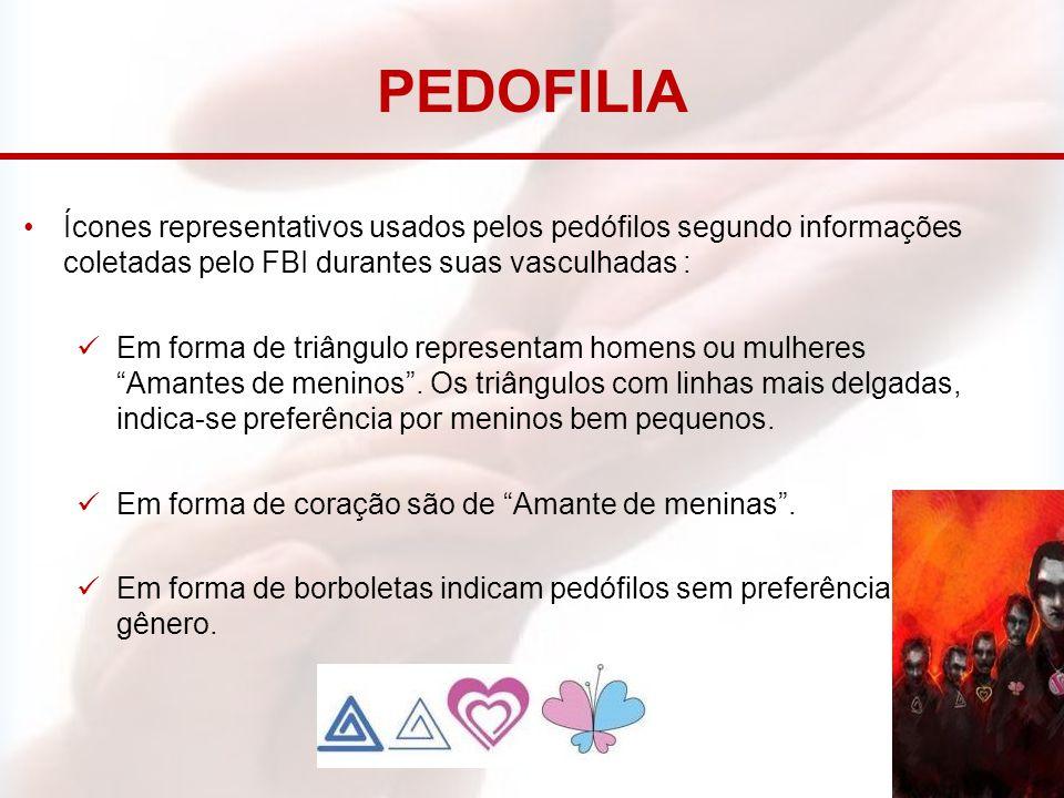 PEDOFILIA Ícones representativos usados pelos pedófilos segundo informações coletadas pelo FBI durantes suas vasculhadas :