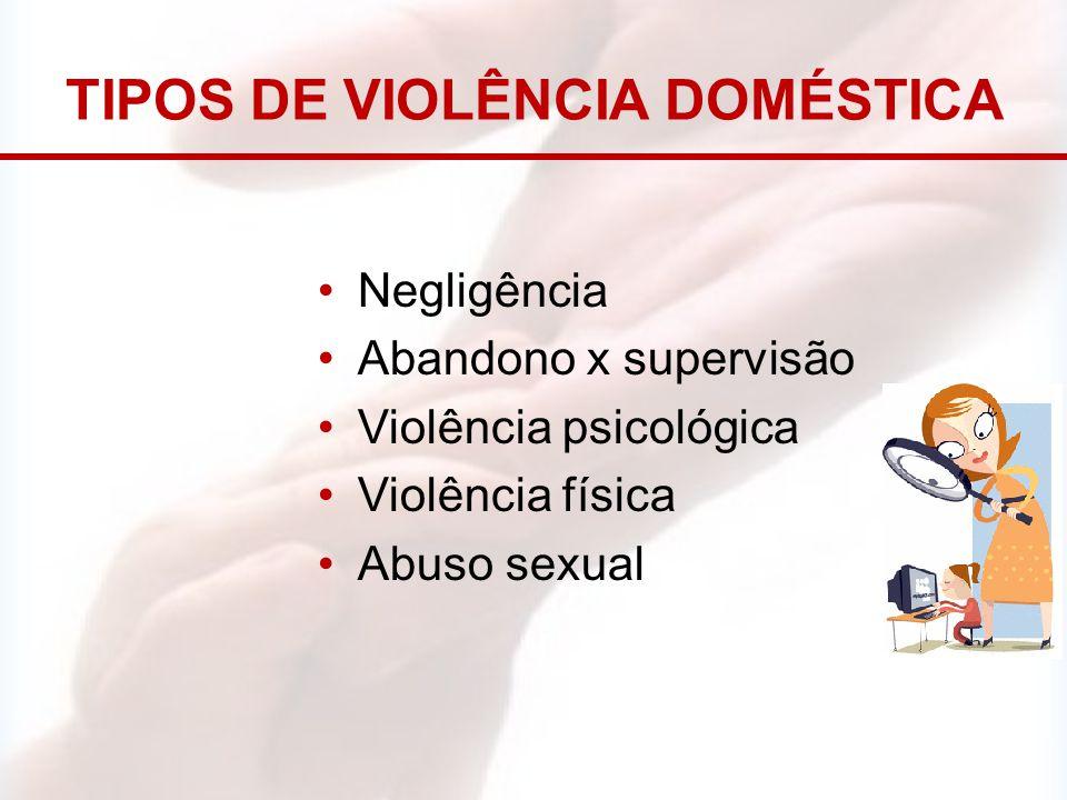 TIPOS DE VIOLÊNCIA DOMÉSTICA