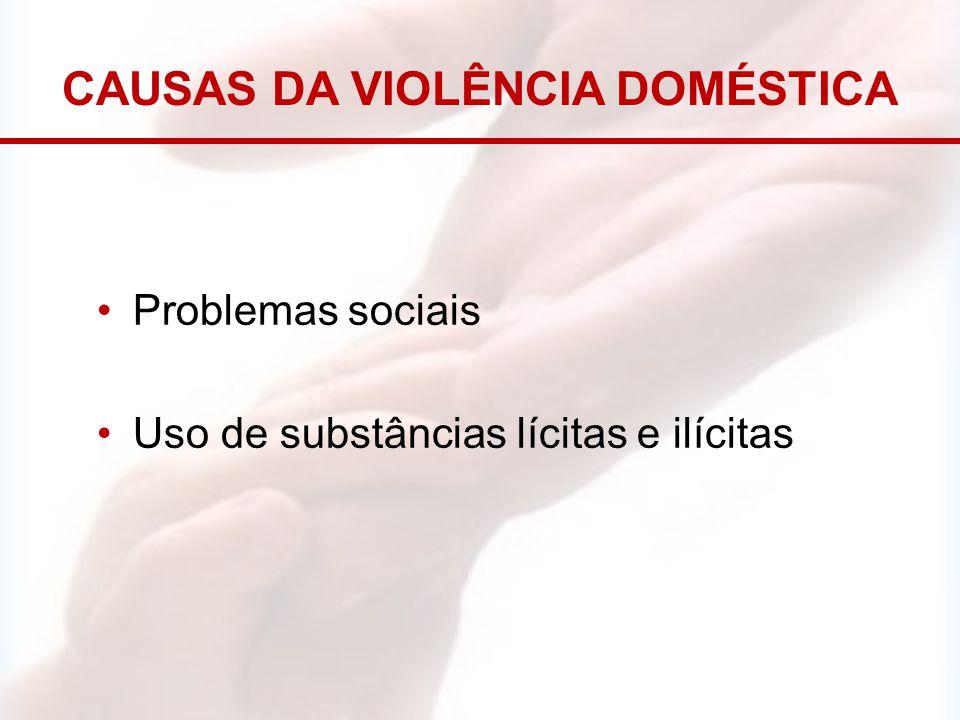 CAUSAS DA VIOLÊNCIA DOMÉSTICA