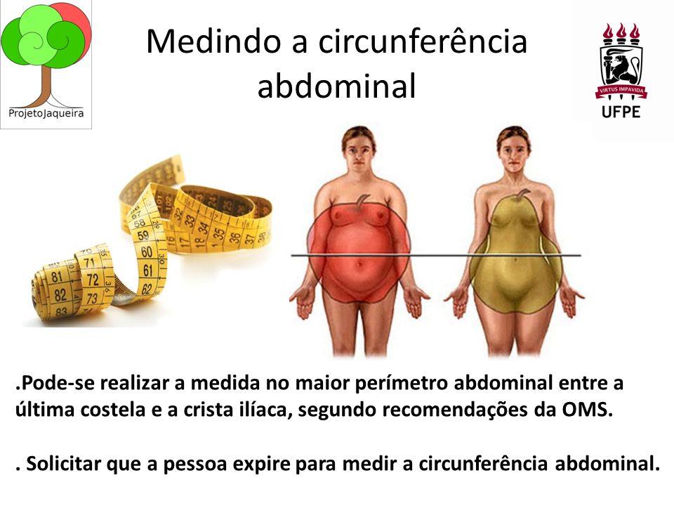 Medindo a circunferência abdominal