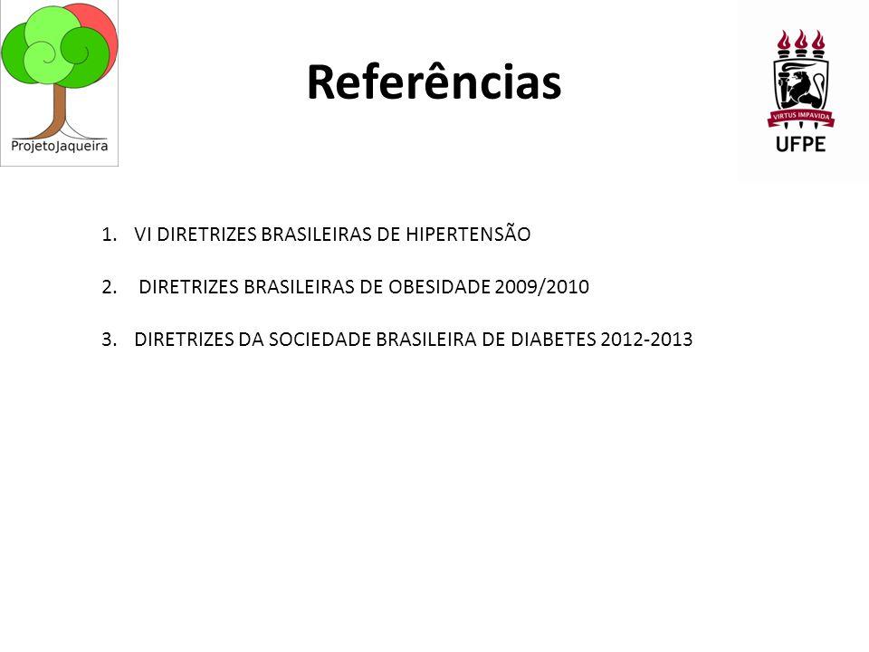 Referências VI DIRETRIZES BRASILEIRAS DE HIPERTENSÃO