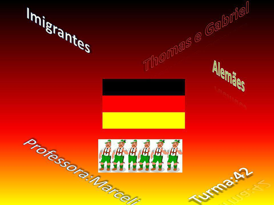 Imigrantes Thomas e Gabriel Alemães Professora:Marceli Turma:42