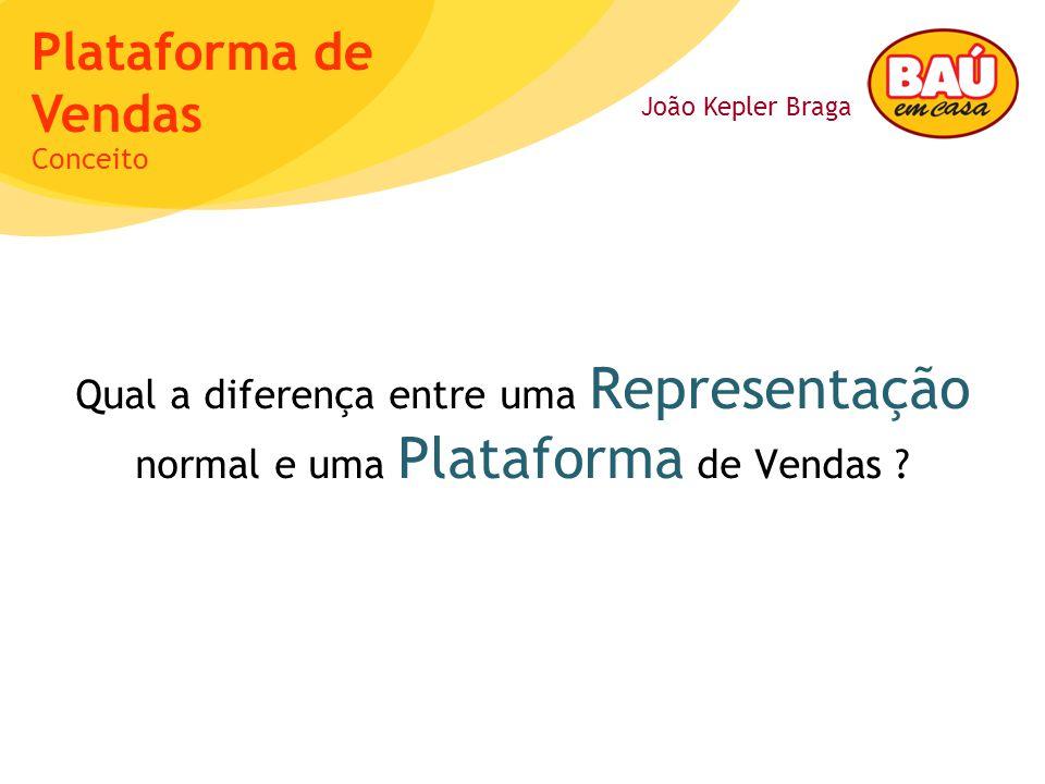 Conceito Qual a diferença entre uma Representação normal e uma Plataforma de Vendas