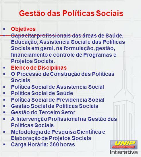 Gestão das Políticas Sociais