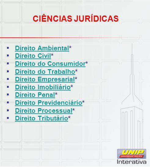 CIÊNCIAS JURÍDICAS Direito Ambiental* Direito Civil*