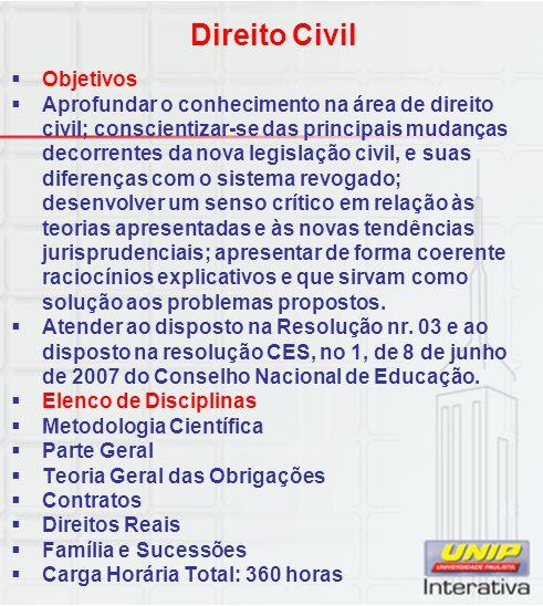 Direito Civil Objetivos