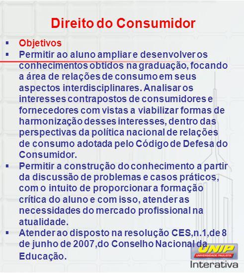 Direito do Consumidor Objetivos