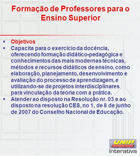 Formação de Professores para o Ensino Superior