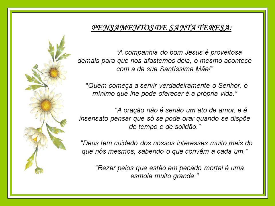 PENSAMENTOS DE SANTA TERESA: