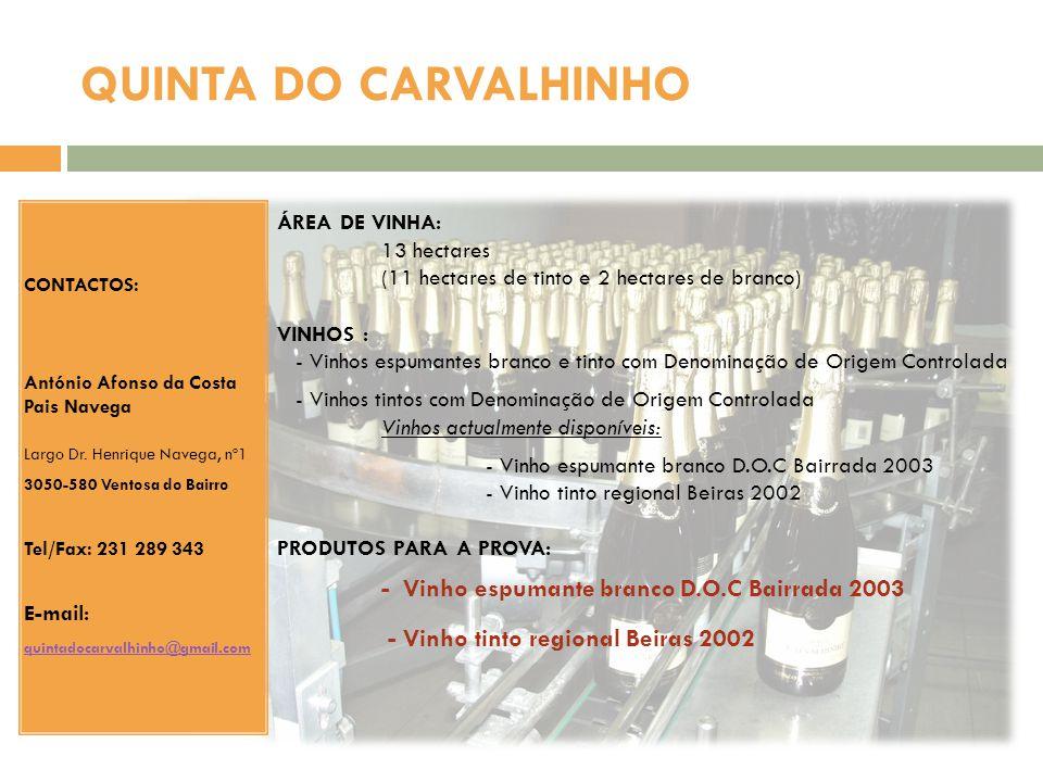 QUINTA DO CARVALHINHO - Vinho tinto regional Beiras 2002