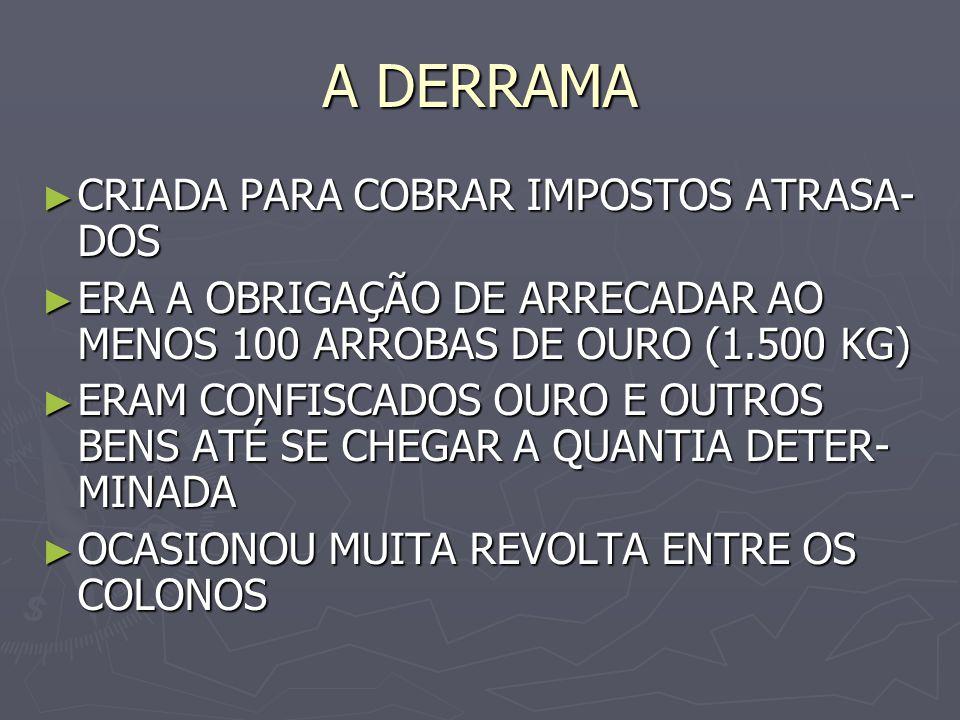 A DERRAMA CRIADA PARA COBRAR IMPOSTOS ATRASA-DOS