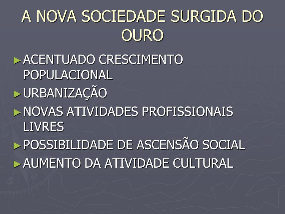 A NOVA SOCIEDADE SURGIDA DO OURO