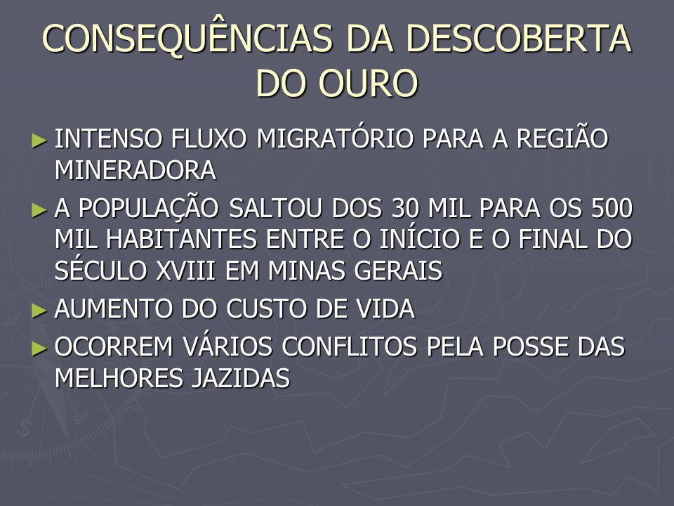 CONSEQUÊNCIAS DA DESCOBERTA DO OURO