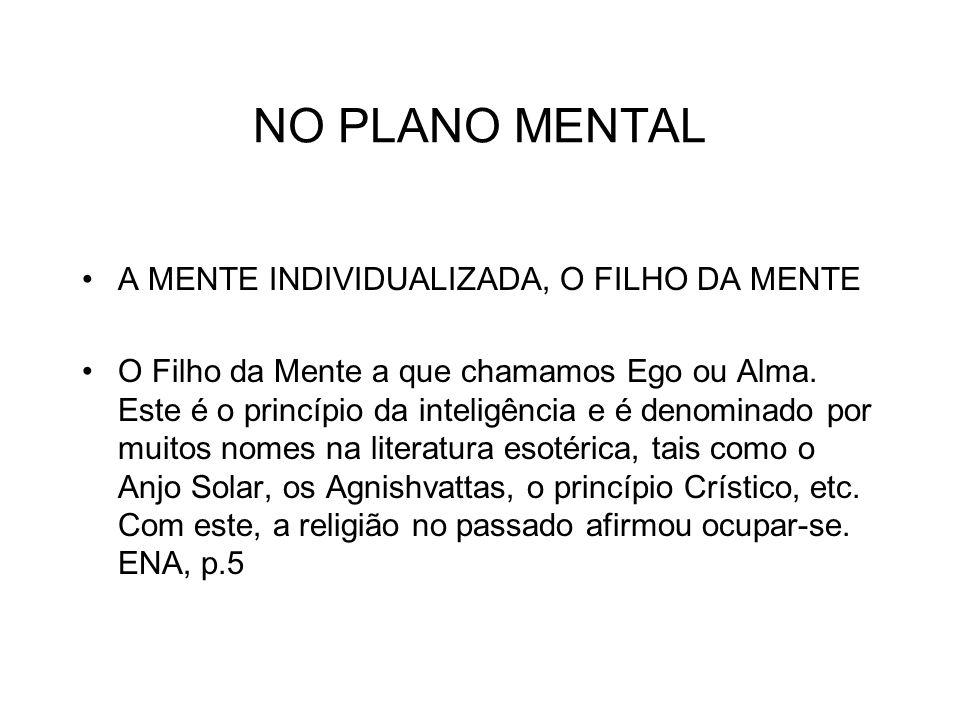 NO PLANO MENTAL A MENTE INDIVIDUALIZADA, O FILHO DA MENTE