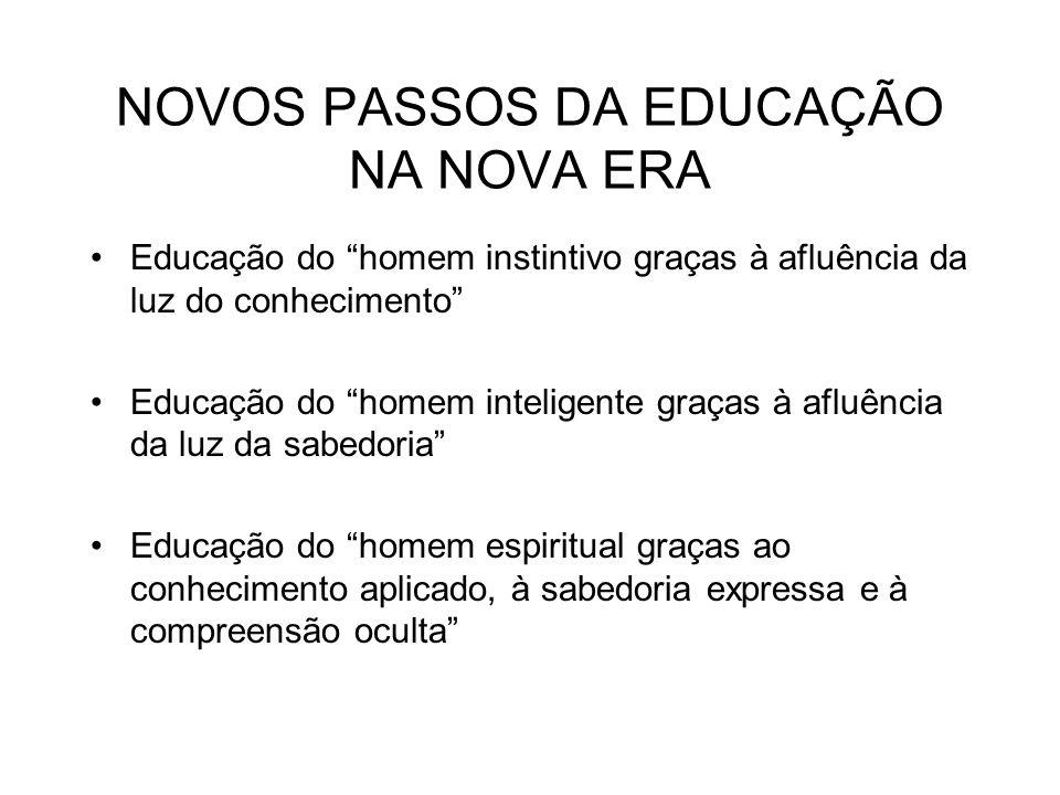 NOVOS PASSOS DA EDUCAÇÃO NA NOVA ERA