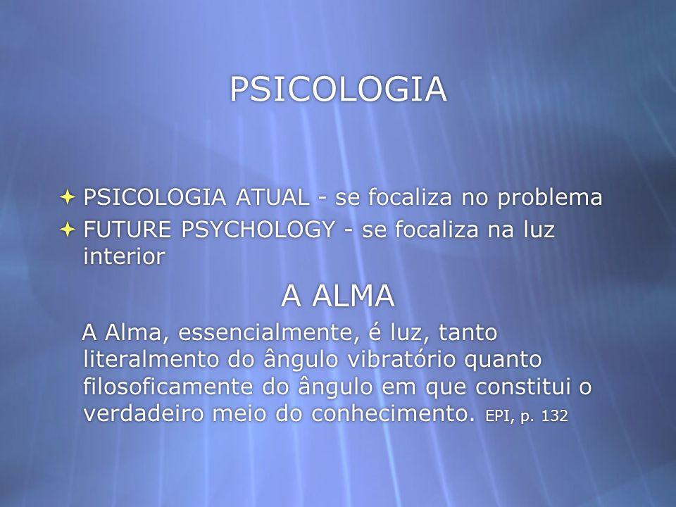 PSICOLOGIA PSICOLOGIA ATUAL - se focaliza no problema
