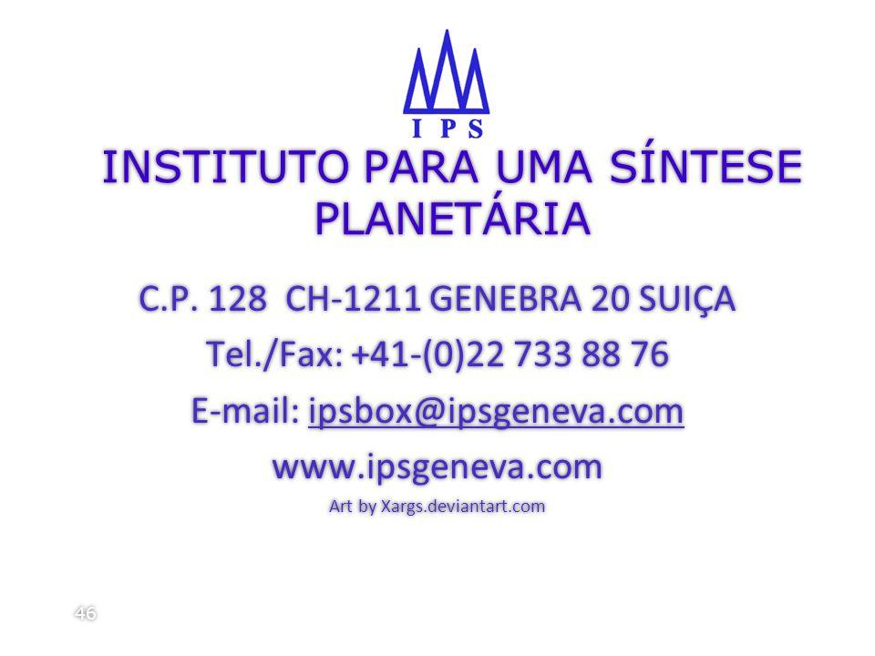 INSTITUTO PARA UMA SÍNTESE PLANETÁRIA