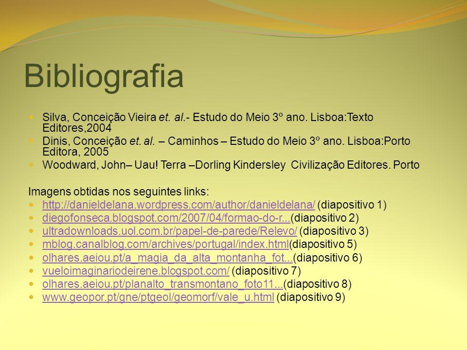 Bibliografia Silva, Conceição Vieira et. al.- Estudo do Meio 3º ano. Lisboa:Texto Editores,2004.