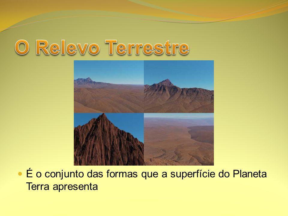 O Relevo Terrestre É o conjunto das formas que a superfície do Planeta Terra apresenta