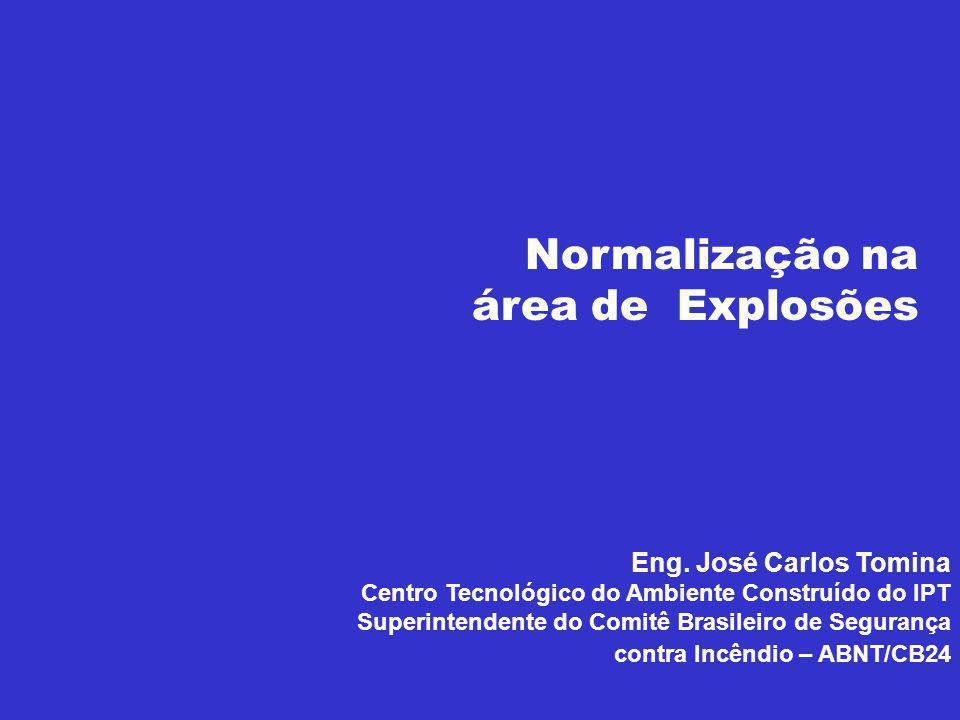 Normalização na área de Explosões