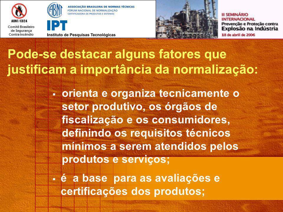 Pode-se destacar alguns fatores que justificam a importância da normalização: