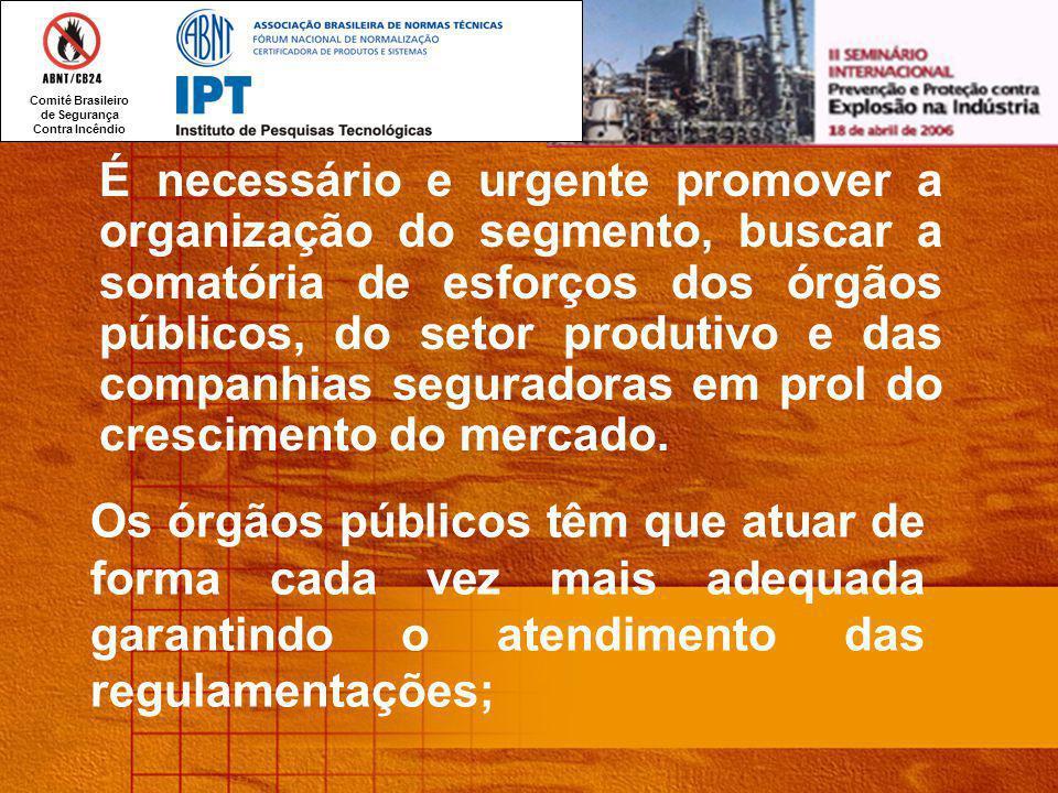 É necessário e urgente promover a organização do segmento, buscar a somatória de esforços dos órgãos públicos, do setor produtivo e das companhias seguradoras em prol do crescimento do mercado.