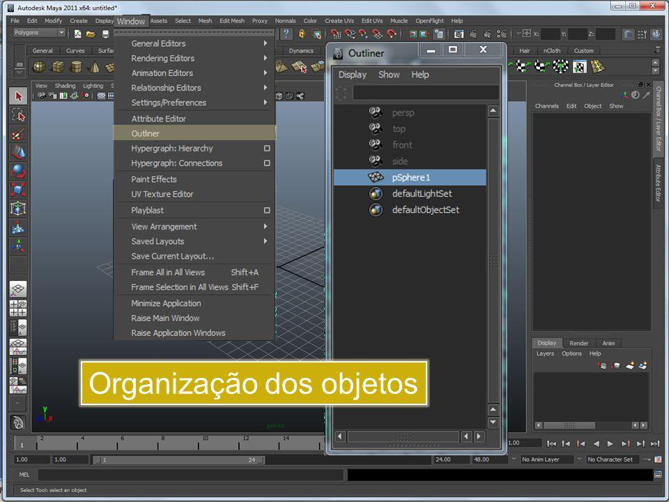 Organização dos objetos
