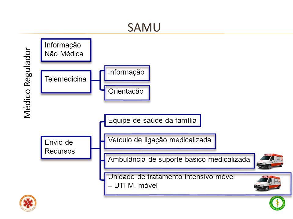 SAMU Médico Regulador Informação Não Médica Informação Telemedicina