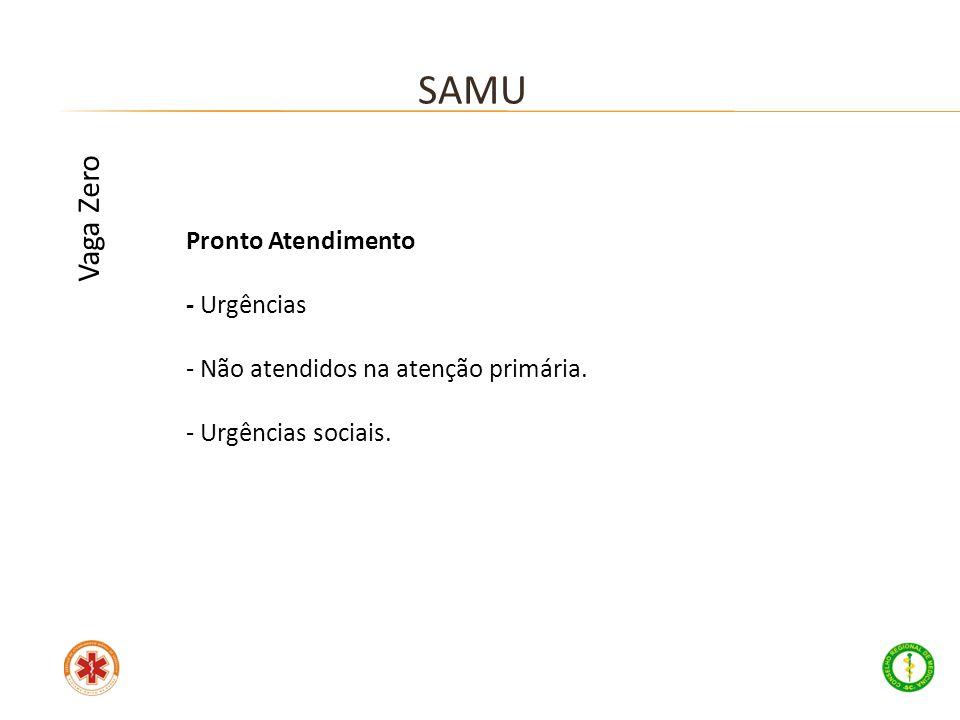 SAMU Vaga Zero Pronto Atendimento - Urgências