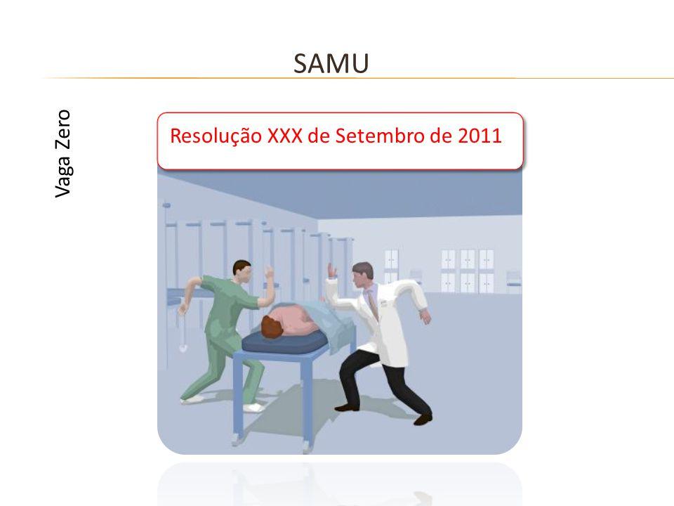 SAMU Resolução XXX de Setembro de 2011 Vaga Zero