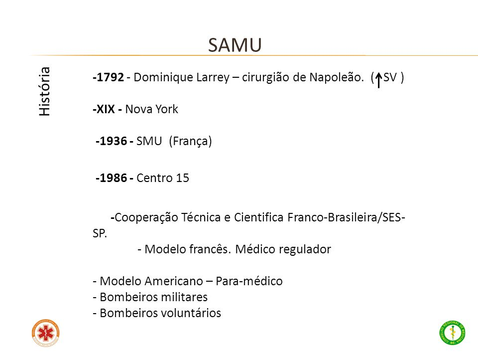 SAMU História -1792 - Dominique Larrey – cirurgião de Napoleão. ( SV )