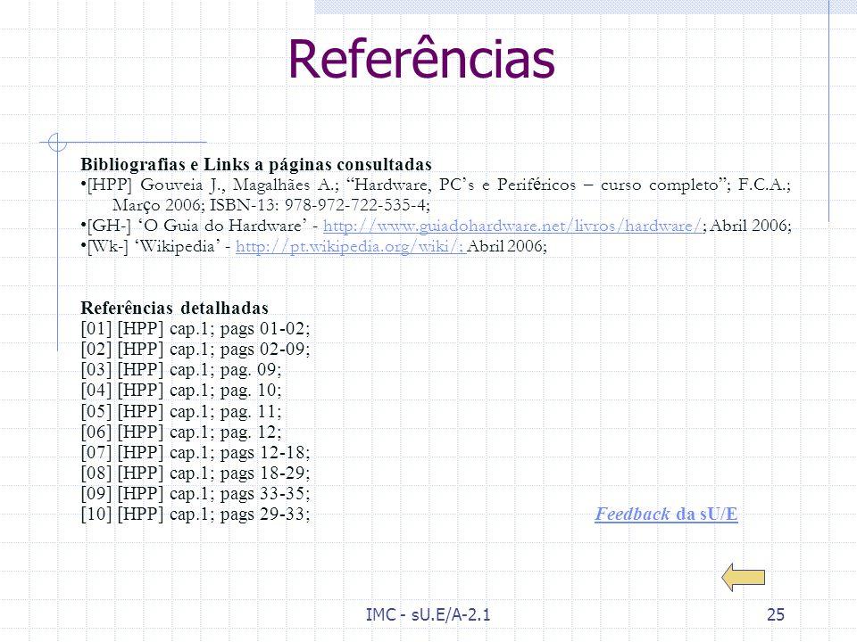 Referências Bibliografias e Links a páginas consultadas