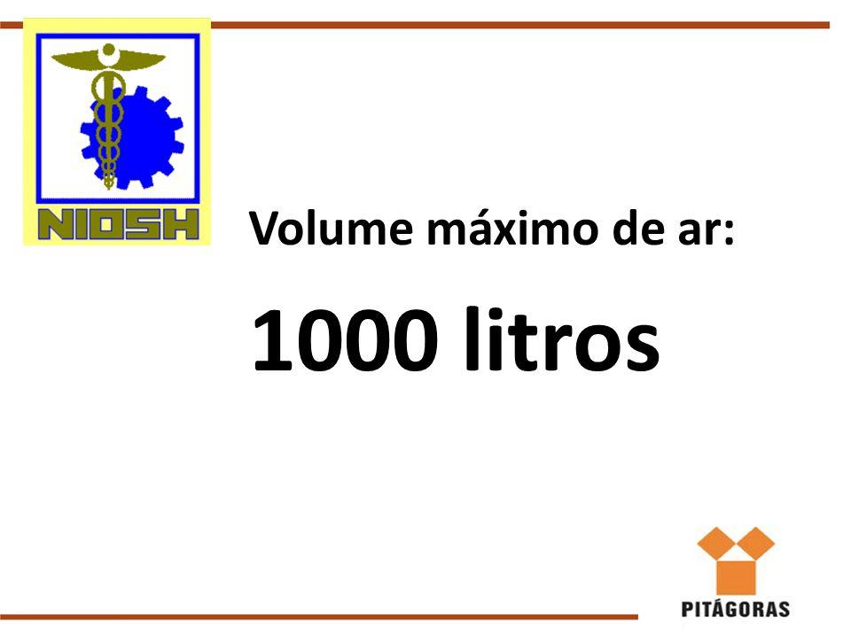 Volume máximo de ar: 1000 litros