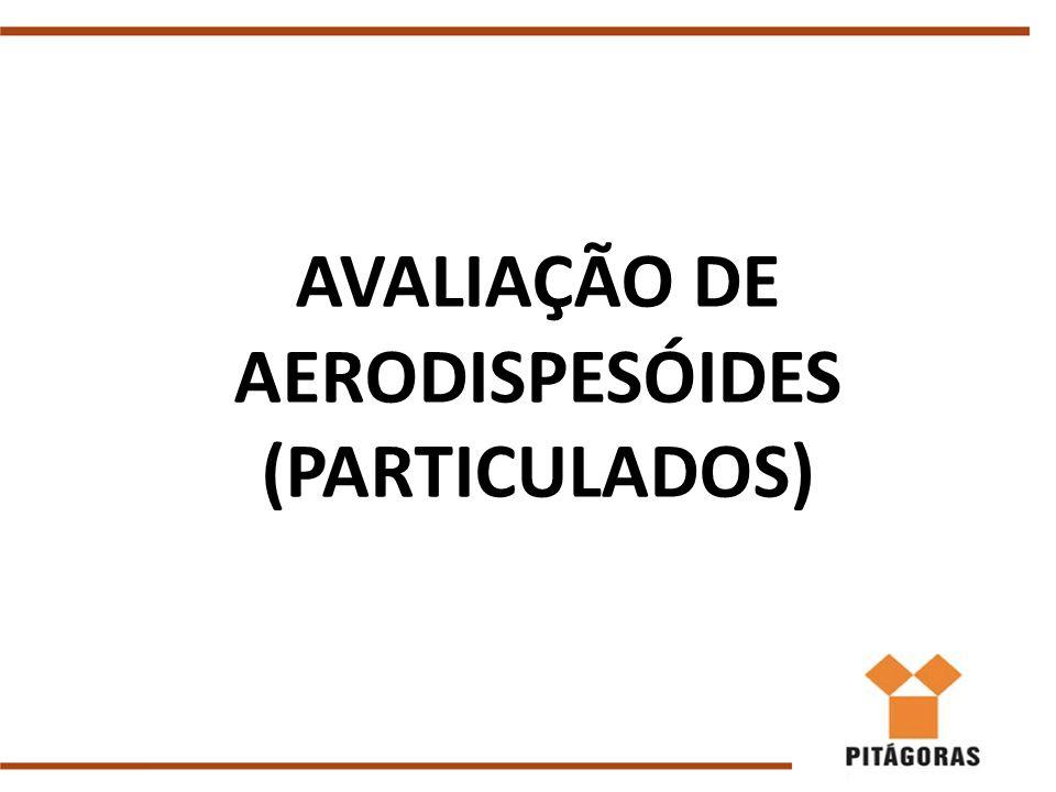 AVALIAÇÃO DE AERODISPESÓIDES (PARTICULADOS)
