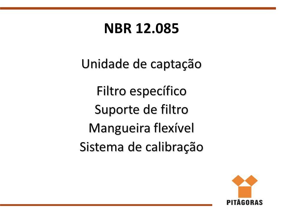 NBR 12.085 Unidade de captação