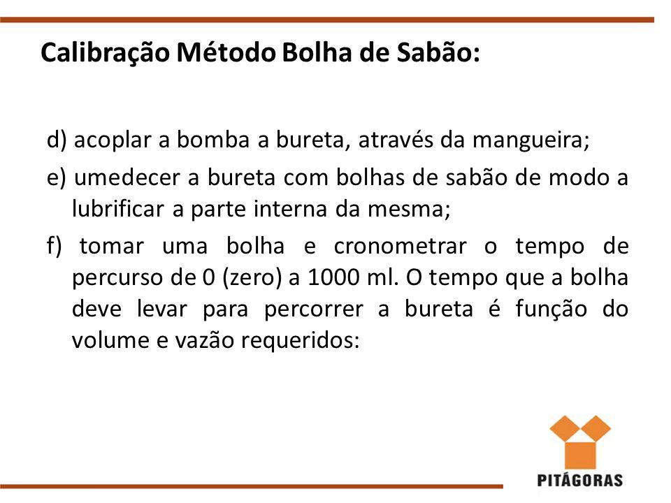 Calibração Método Bolha de Sabão: