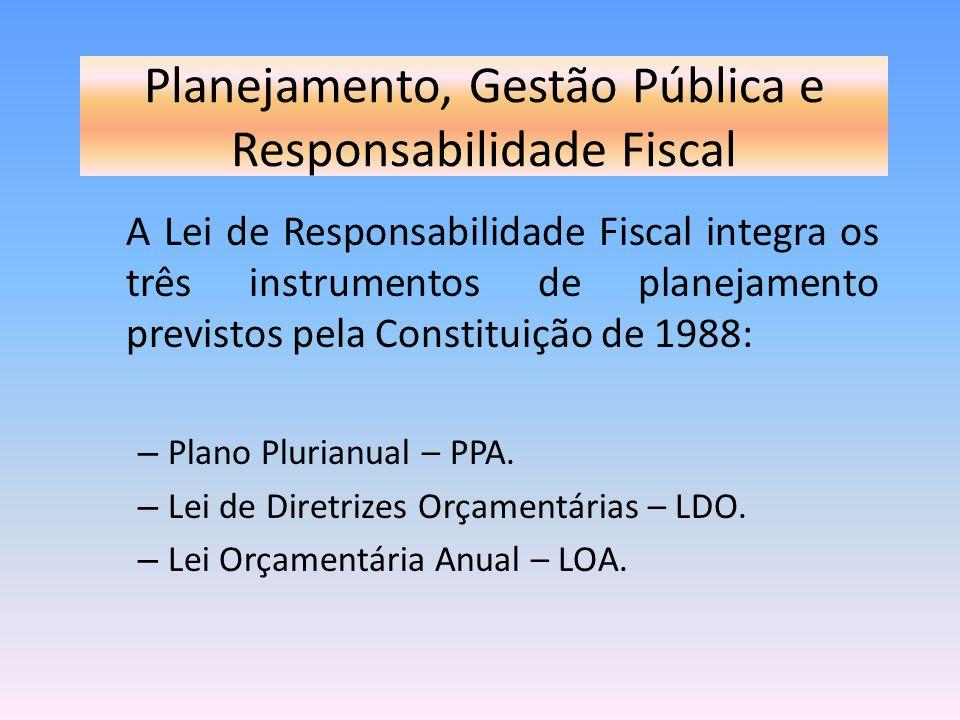 Planejamento, Gestão Pública e Responsabilidade Fiscal