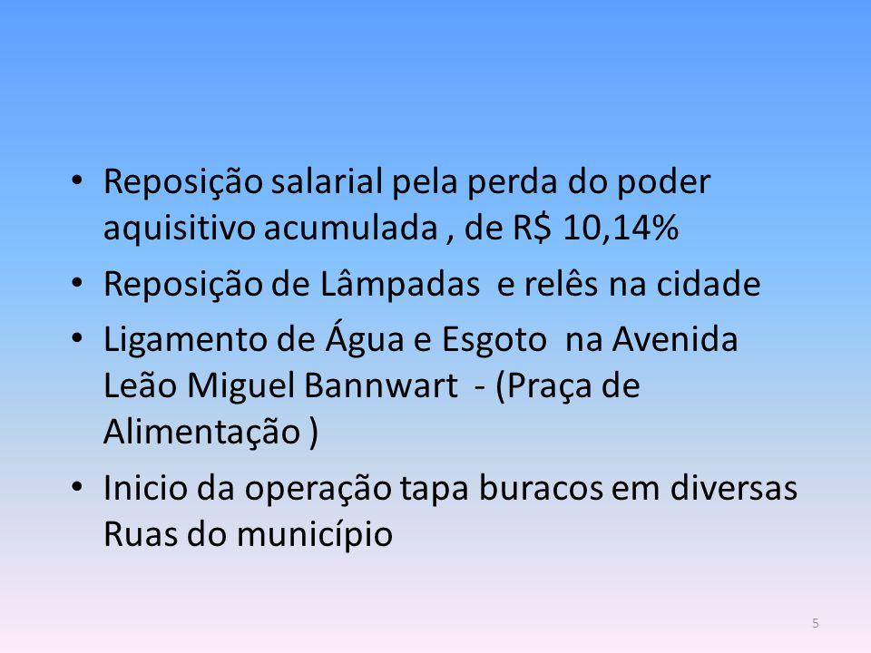 Reposição salarial pela perda do poder aquisitivo acumulada , de R$ 10,14%