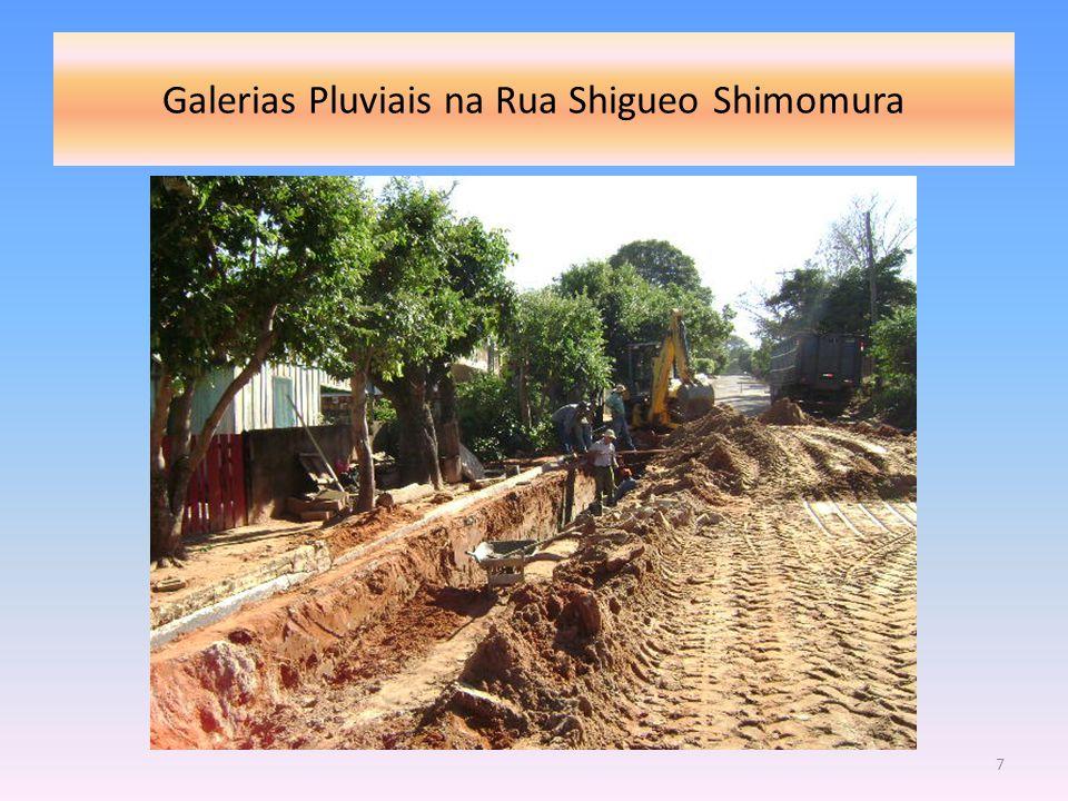 Galerias Pluviais na Rua Shigueo Shimomura