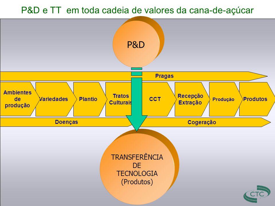 P&D e TT em toda cadeia de valores da cana-de-açúcar