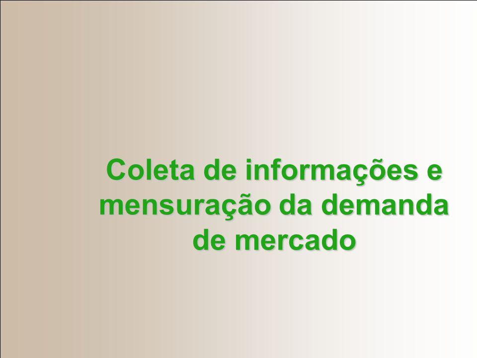 Coleta de informações e mensuração da demanda de mercado