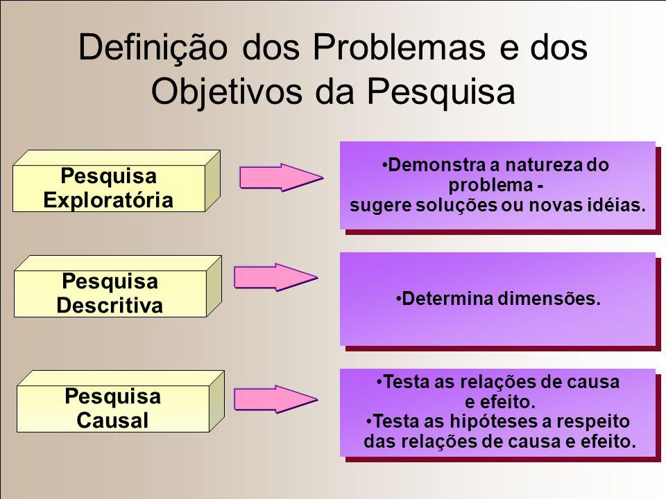 Definição dos Problemas e dos Objetivos da Pesquisa